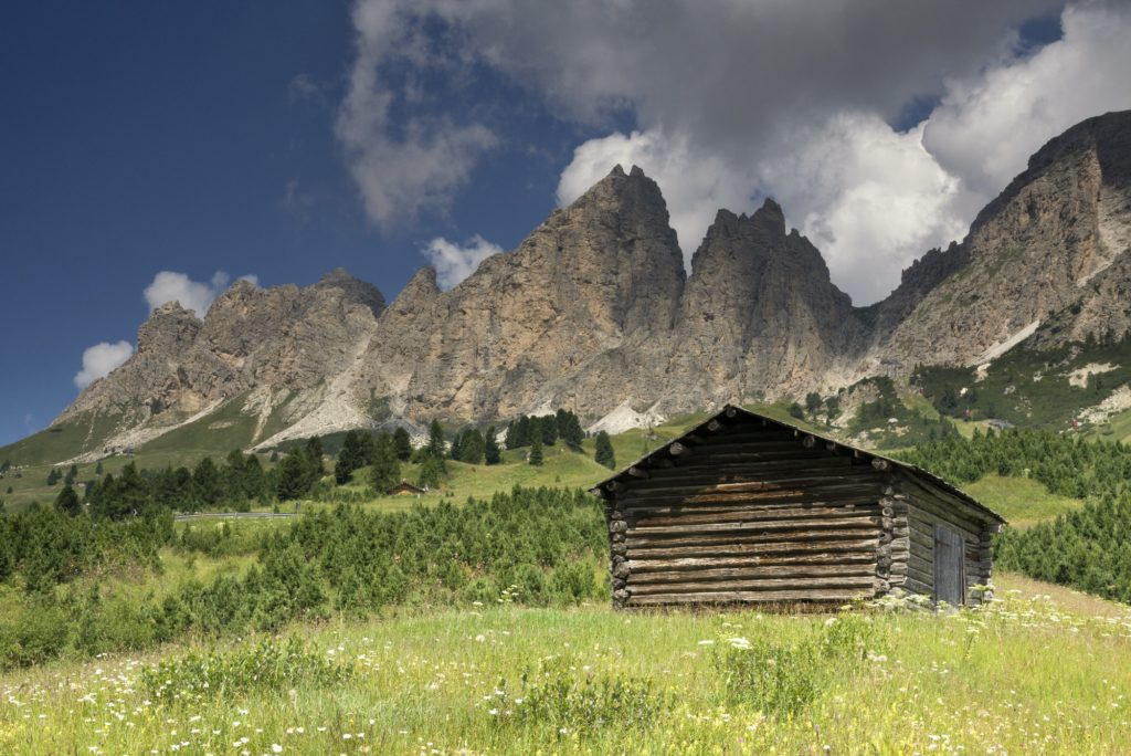 Wooden shed South Tyrol